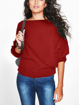 white ribbed oversized loose fit sweater boat neck long sleeve pullover in a slouchy silhouette