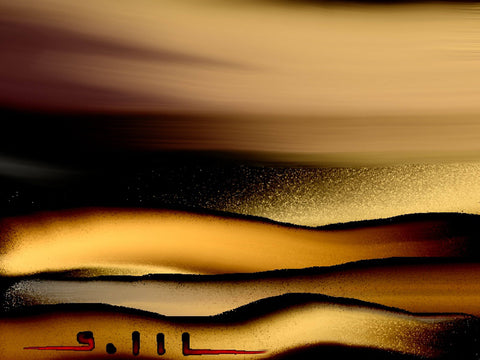 Sea of Gold - Greeting Card - GallaherGallery.com