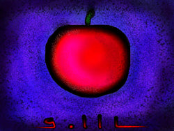 Apple and Blue  - Greeting Card - GallaherGallery.com
