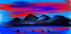 Black Mountain Vibe - Greeting Card - GallaherGallery.com