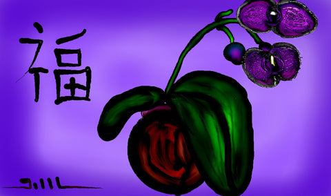 Janel's Orchid - Greeting Card - GallaherGallery.com