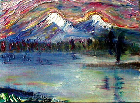 Mountain Lake - Greeting Card - GallaherGallery.com