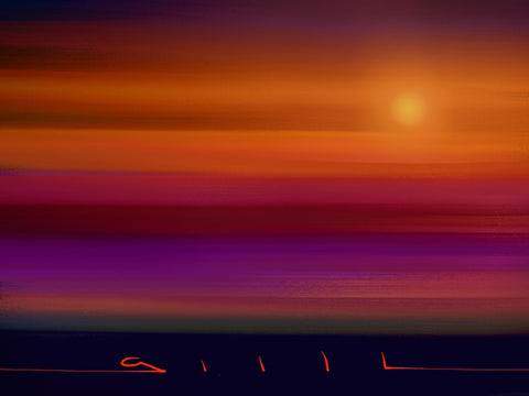 The Perfect Sunset - Greeting Card - GallaherGallery.com