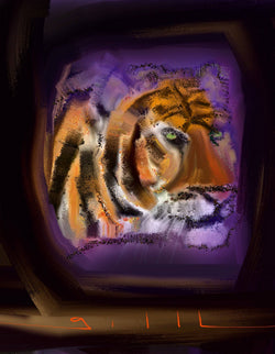 Tiger Time - Greeting Card - GallaherGallery.com