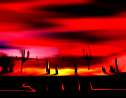 Tuscon Sky - Greeting Card - GallaherGallery.com