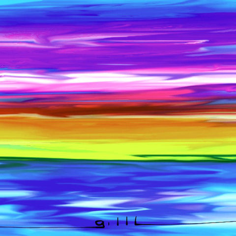 Rainbow Water - Greeting Card - GallaherGallery.com
