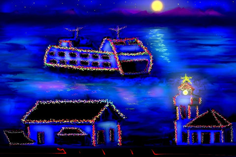 Christmas Ferry - Greeting Card - GallaherGallery.com