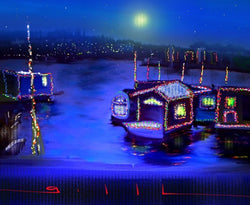 Christmas Lights - Greeting Card - GallaherGallery.com