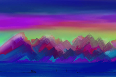 Cool Mountains - Greeting Card - GallaherGallery.com