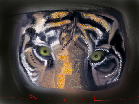 Eyes of the Tiger - Greeting Card - GallaherGallery.com