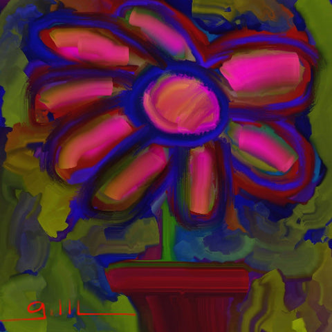 Flower Pot - Greeting Card - GallaherGallery.com