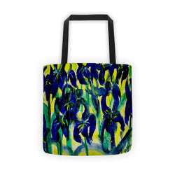 Blue Irises Soil - Tote bag - GallaherGallery.com