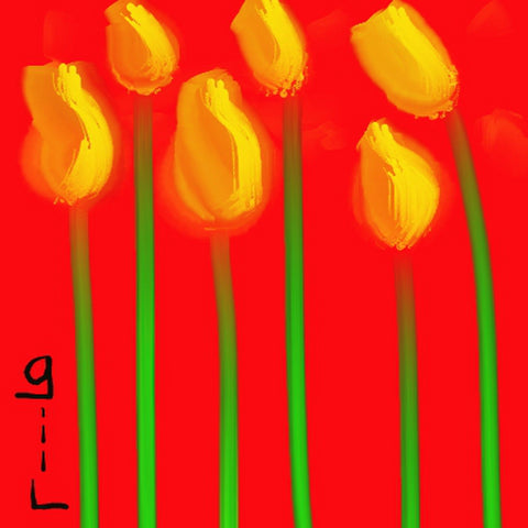 The Tulips -  Greeting Card - GallaherGallery.com