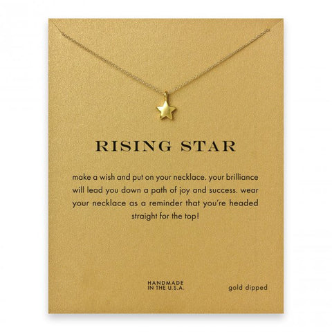 MAKE-A-WISH NECKLACE: Rising Star Pendant Necklace With Card