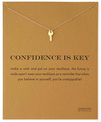 MAKE-A-WISH NECKLACE: Confidence Is Key Pendant Necklace With Card