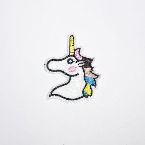 PC2123 - White Unicorn Colorful Hair (Iron On)