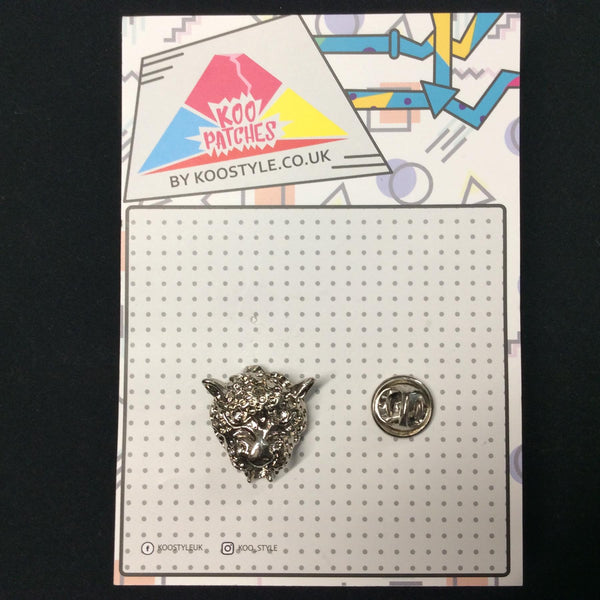 MP0249 - Silver Leopard Tiger Metal Pin Badge