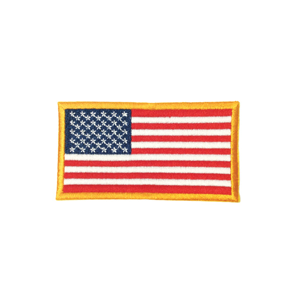 PC2206B - Orange Border America Flag (Iron On)
