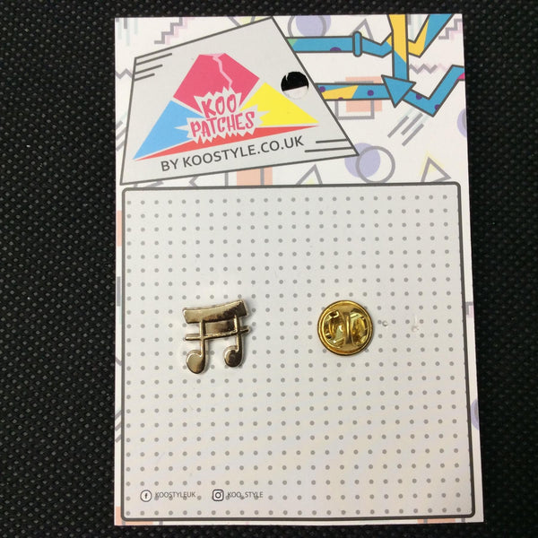 MP0170 - Gold Silver Music Note Metal Pin Badge