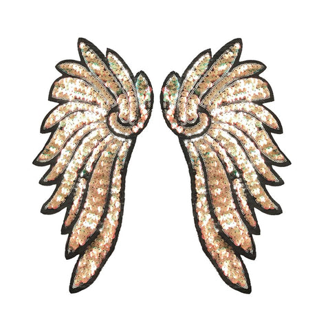 PC3100H - Super Sequin Multi Beige Wings XXL (Iron On)