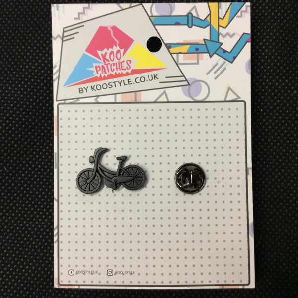 MP0061 - Black Bicycle Metal Pin Badge