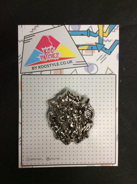 MP0222 - Silver Lion Metal Pin Badge