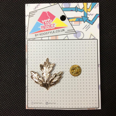 MP0007 - Gold Autumn Leaf Metal Pin Badge