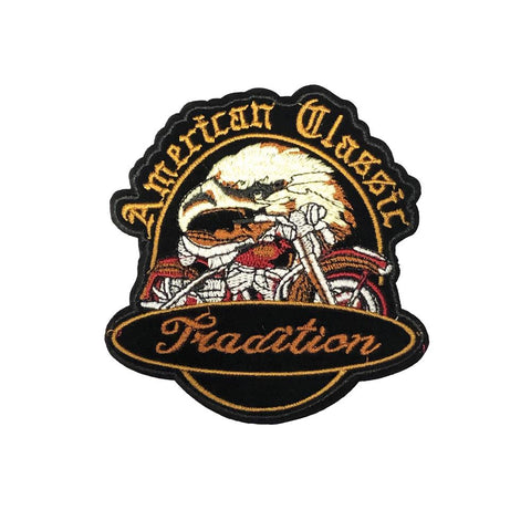 PC4190 - American Classic Biker Eagle Tradition (Iron On)