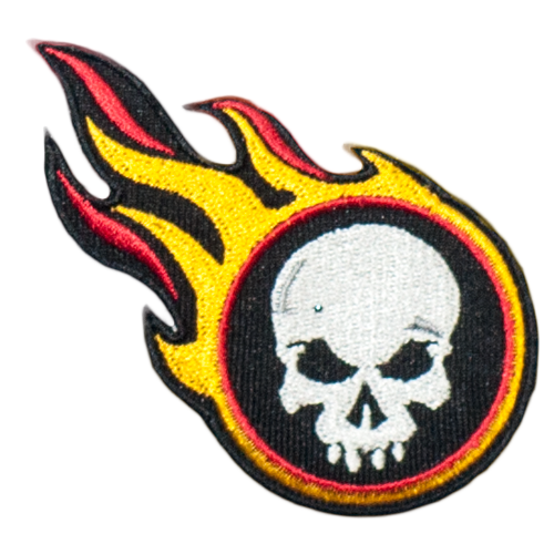 PH41 - Skull on Fire (Iron on)