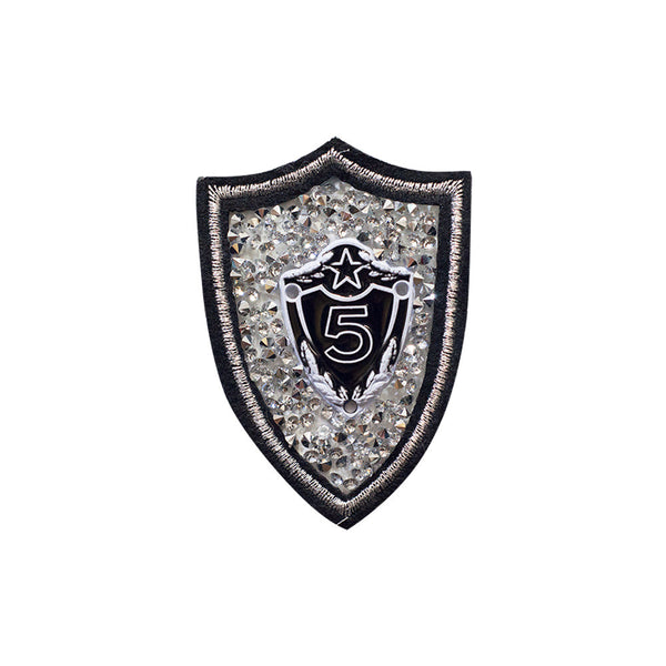 PT469 - Stone 5 Badge (Iron on)