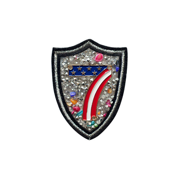 PT445 - Stone 7 Badge (Iron on)