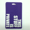 L00360 - This Stuff Purple Luggage Tag