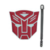 L00348 - Transformers Red Big Head Luggage Tag