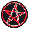 PH144 - Red Pentagram Star (Iron on)