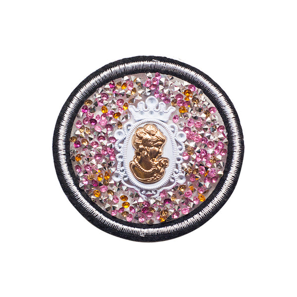 PT429 - Stone Lady Patch Pink (Iron on)