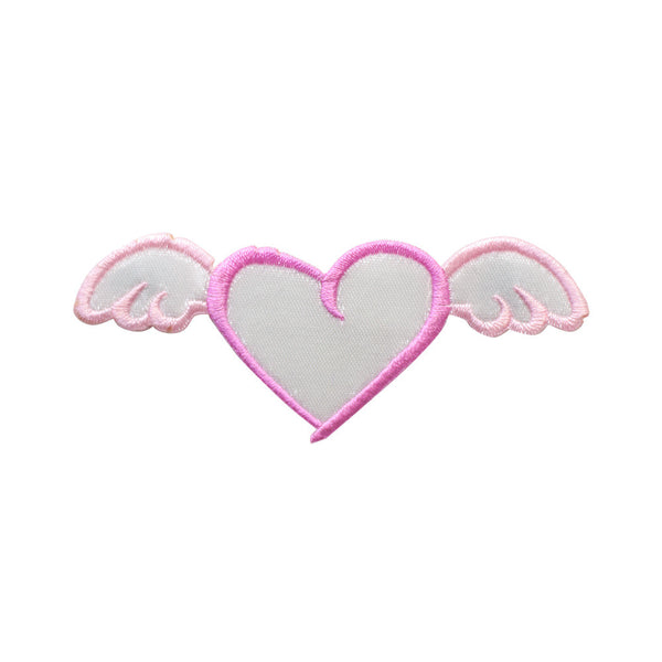 PT659 - Flying pink heart (Iron on)