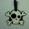 L00387 - Skull Heart Nose Luggage Tag