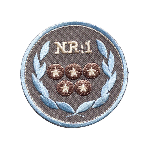 PT337 - NR 1 Badge (Iron on)