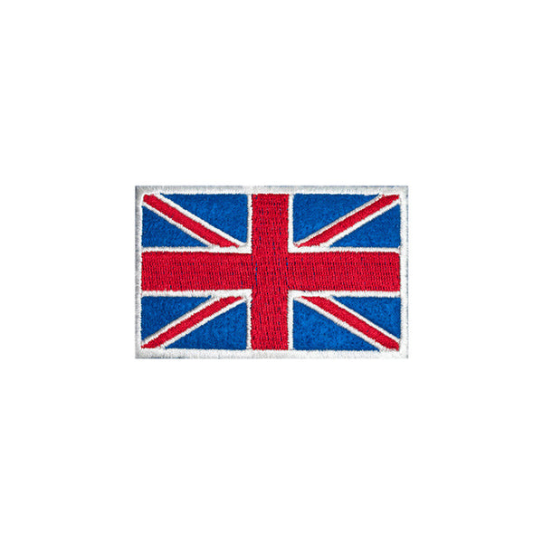 PH154 - Union Jack White (Iron on)