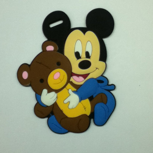 L00370 - Baby Mickey w Bear Luggage Tag