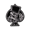 PH127 - Spade Skull with Hat (Iron on)