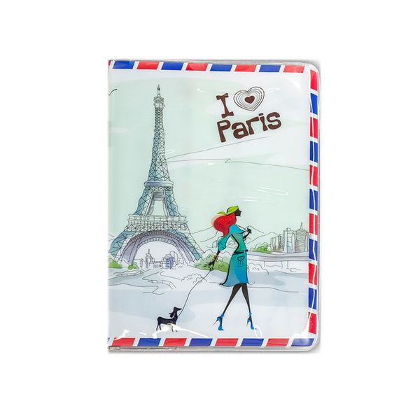 H00027 - I love Paris Shiny Passport Holder