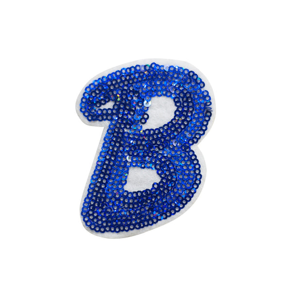 PT633 - Blue B letter (Sew on)
