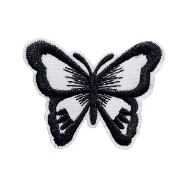 PT360 - Black white Butterfly (Iron on)