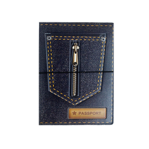 H00020 - Denim Passport Holder