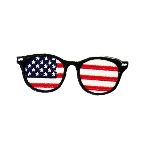 PH160 - America Glasses (Iron on)