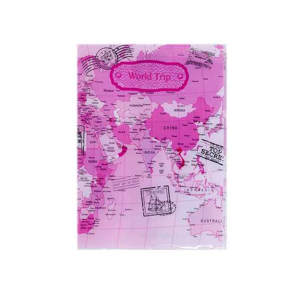 H00029 - World Trip Pink Passport Holder