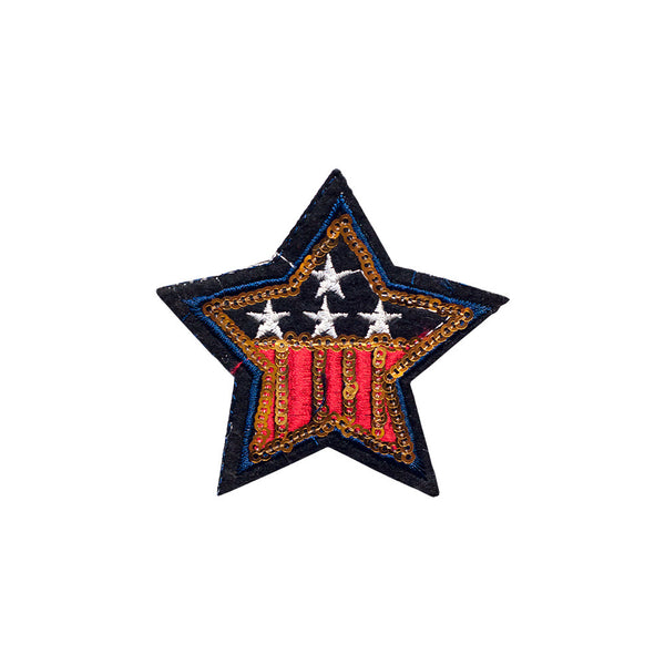PT490 - Sequin USA Star (Iron on)