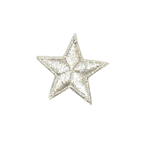 PH152 - Silver Plain Star (Iron on)