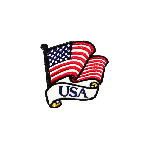 PH157 - USA flag (Iron on)